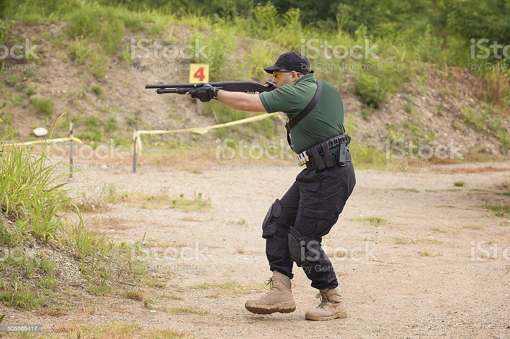 Shotgun Shooting Training stock photo