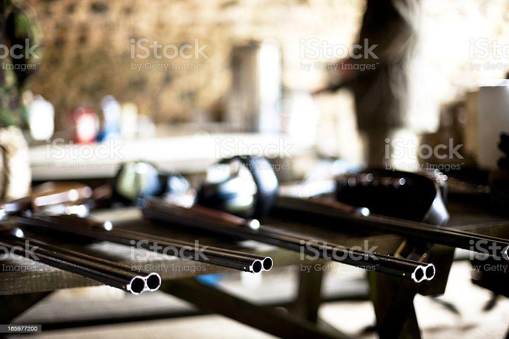 Shotguns stock photo