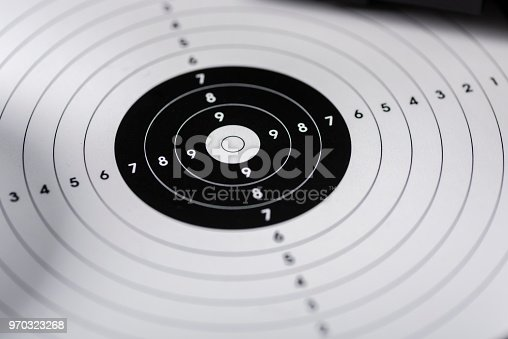 istock shots, shields and cartridges - shooting position on the sport shooting range 970323268