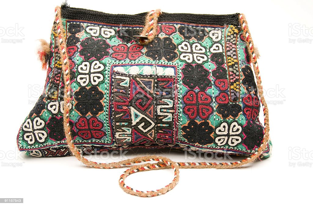 shoulder bag hand made in turkey stock photo