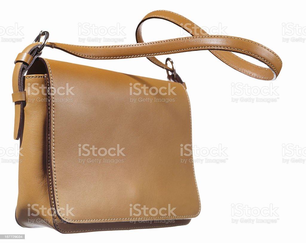Bolsa de ombro em branco. - foto de acervo