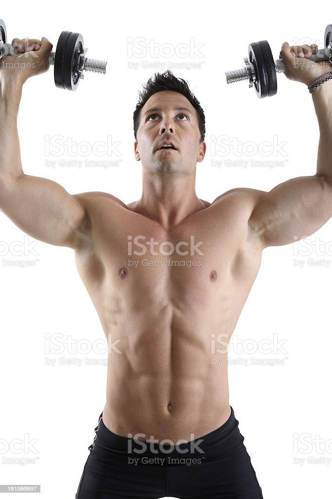 Shoulder exercise royalty-free stock photo