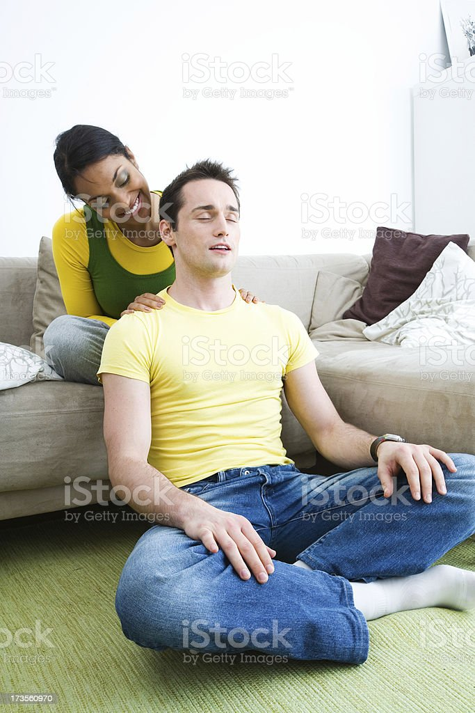 Shoulder massage royalty-free stock photo