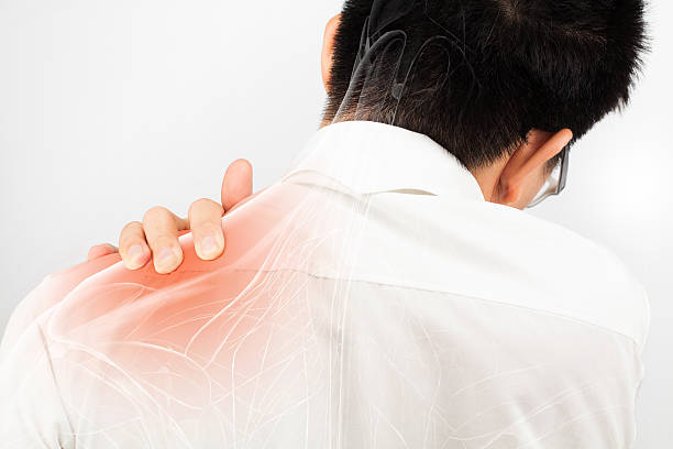 shoulder muscle pain - foto stock