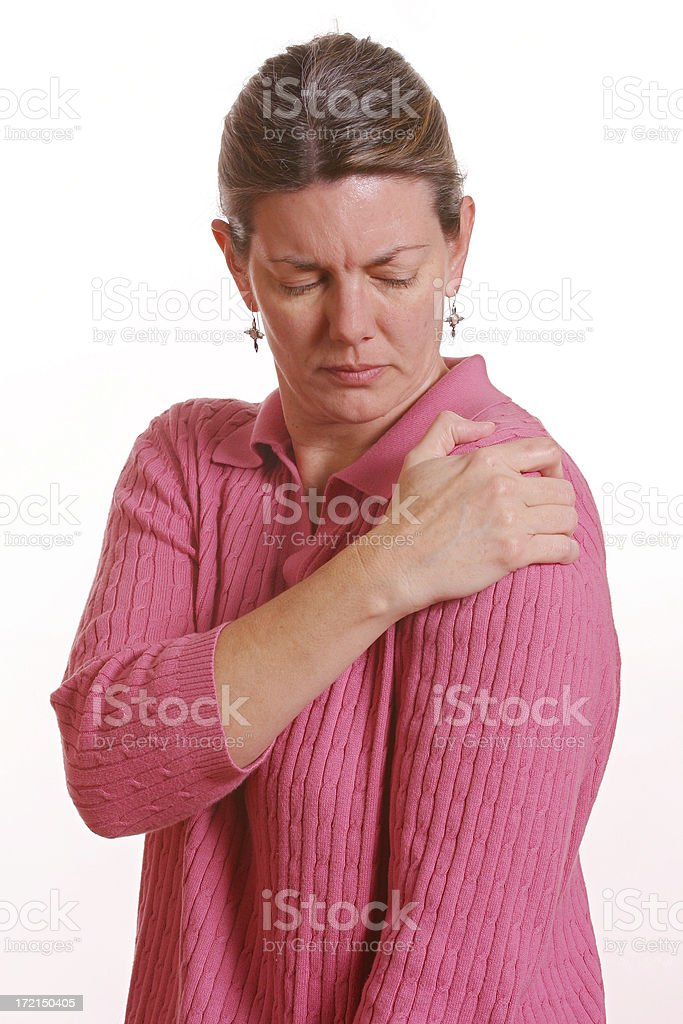 Shoulder pain 4 royalty-free stock photo