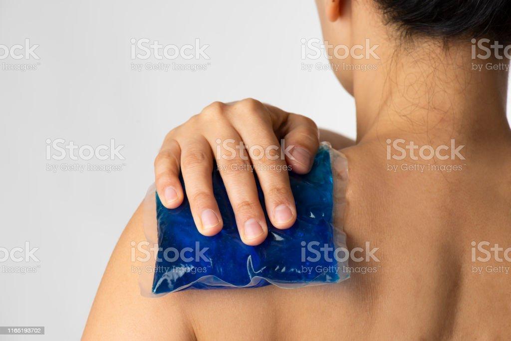 Schulterschmerzen - Lizenzfrei 40-44 Jahre Stock-Foto