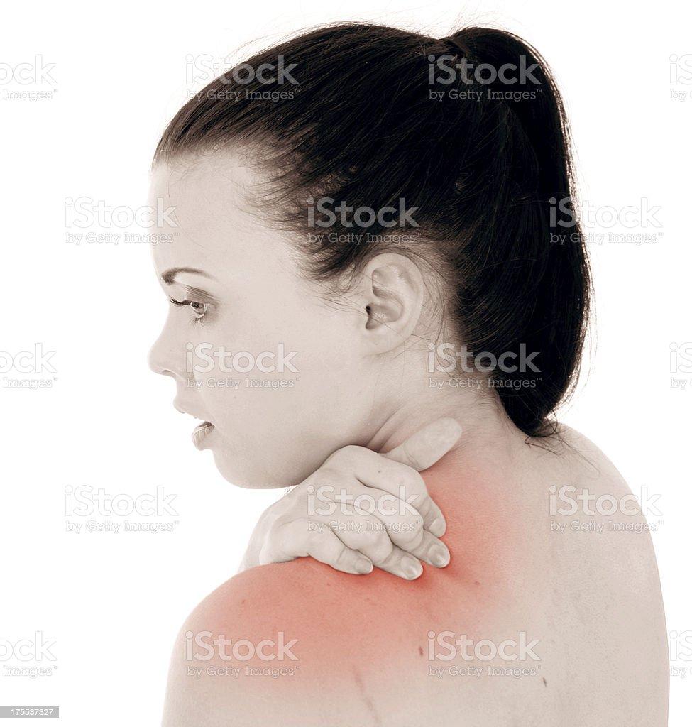 Shoulder Pain royalty-free stock photo