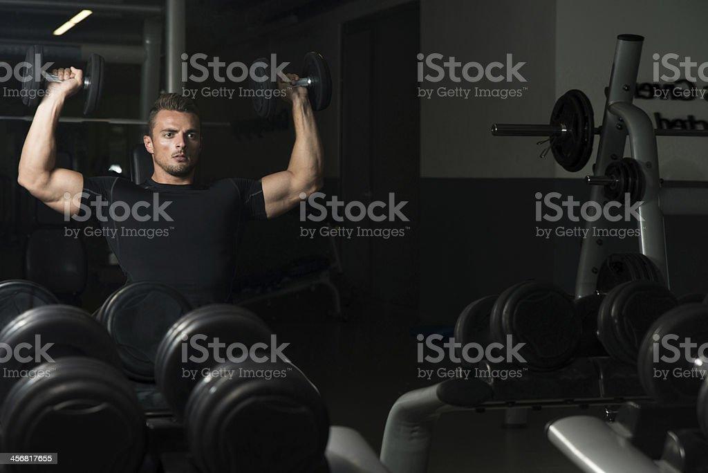 Shoulder Press Workout stock photo