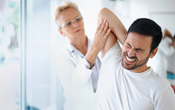 Shoulder problems. stock photo