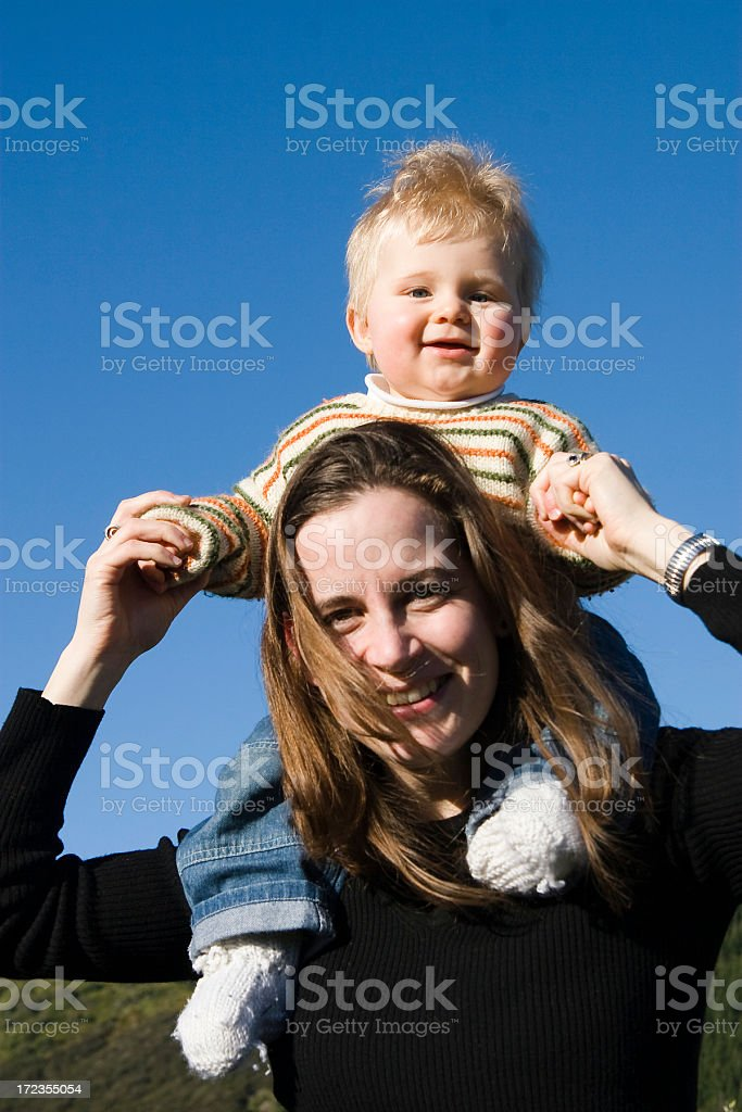 Shoulder ride royalty-free stock photo