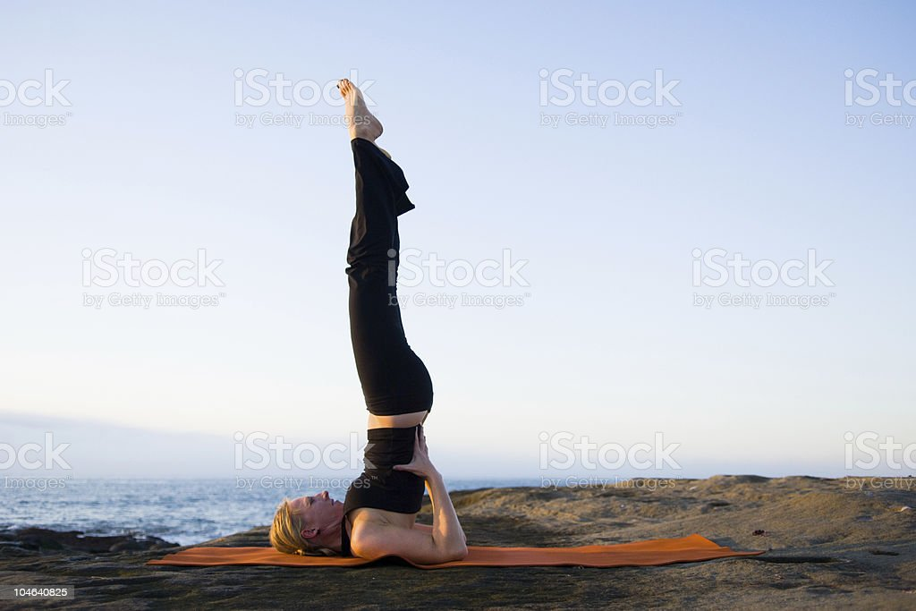 Shoulder Stand stock photo