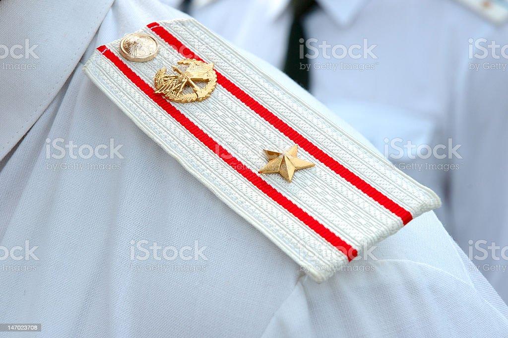 Shoulder strap of russian army officer. stok fotoğrafı