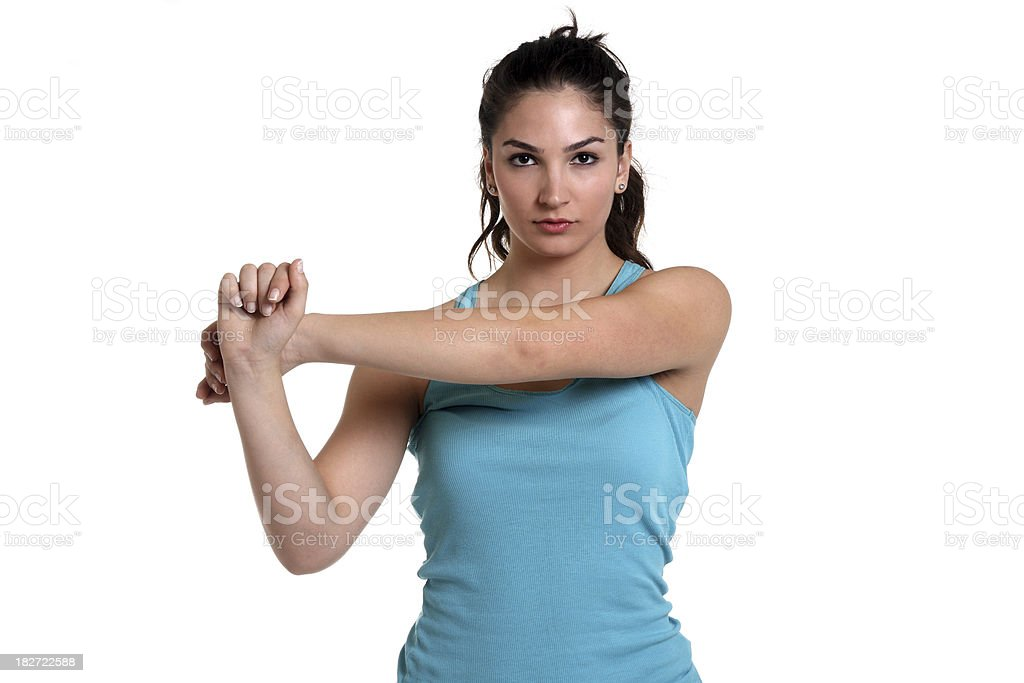 Shoulder Stretch stock photo