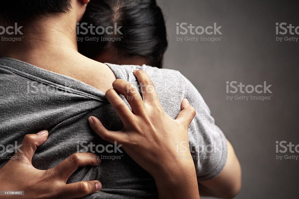 Shoulder to cry on stock photo