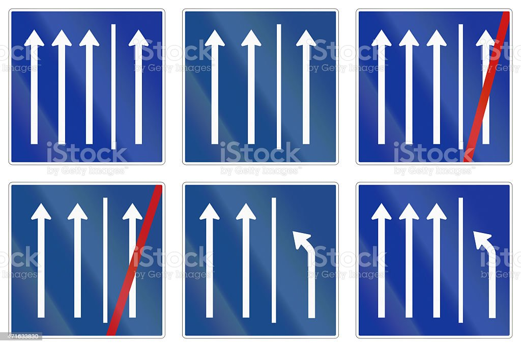 Shoulder Usage Signs In Germany stock photo