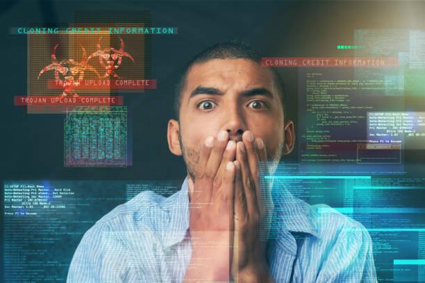 I should've bought that antivirus! stock photo