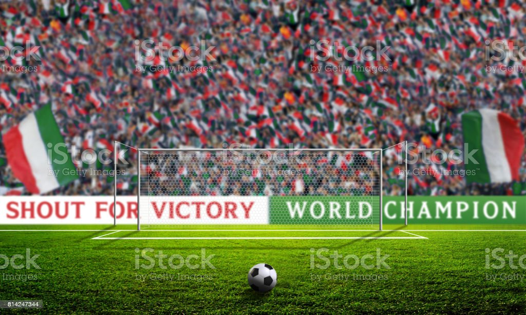 Shout for Victory - Italy stock photo