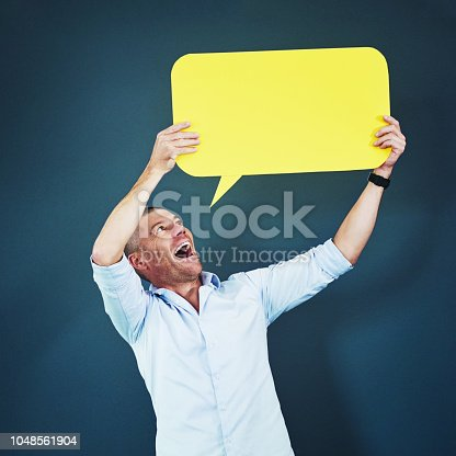 1048561866 istock photo Shout it from the rooftops 1048561904