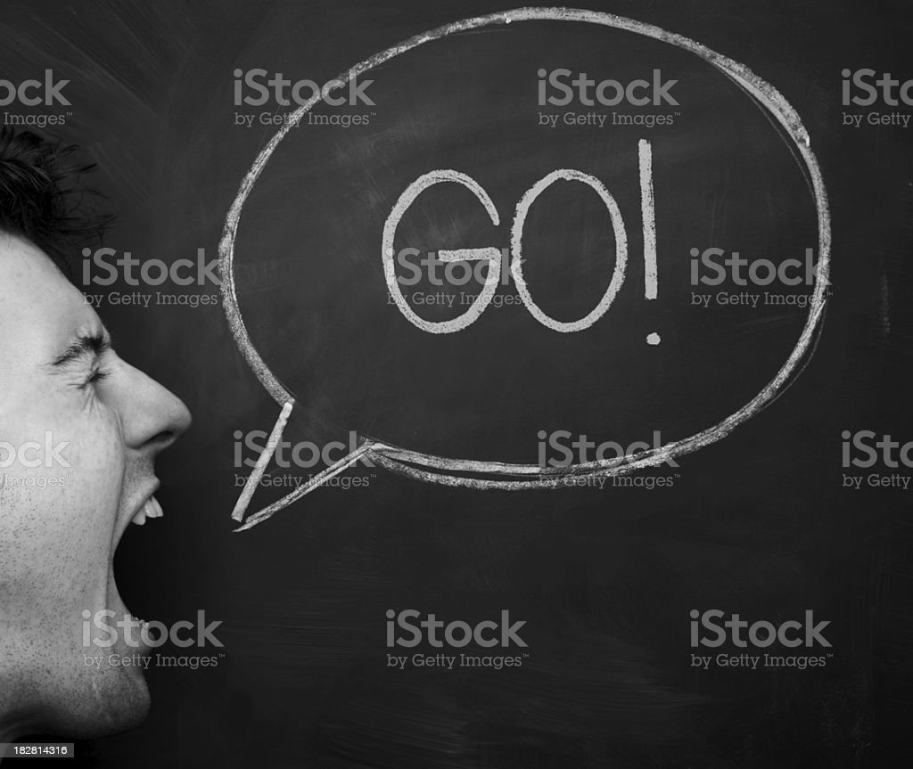 Shout out GO stock photo