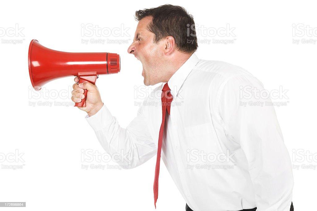 Shouting Businessman stock photo