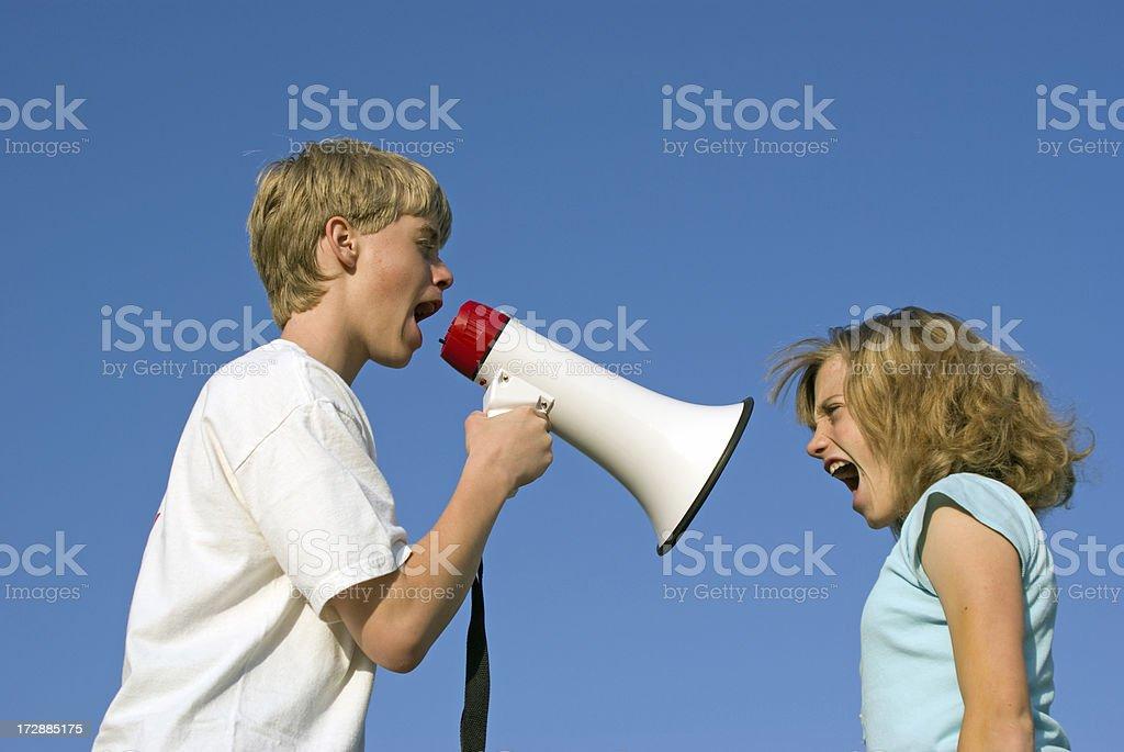 Shouting Match stock photo