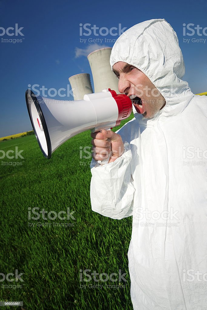 Shouting Protester royalty-free stock photo