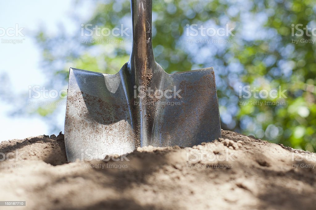 Shovel and Dirt stock photo
