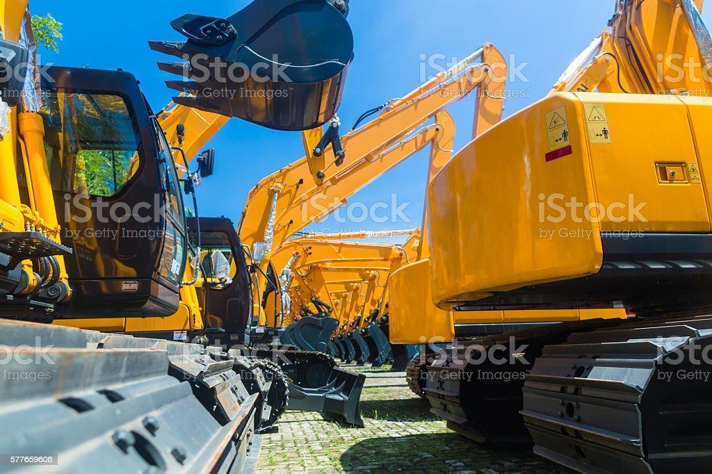 Shovel excavator on Asian machinery  rental company – Foto