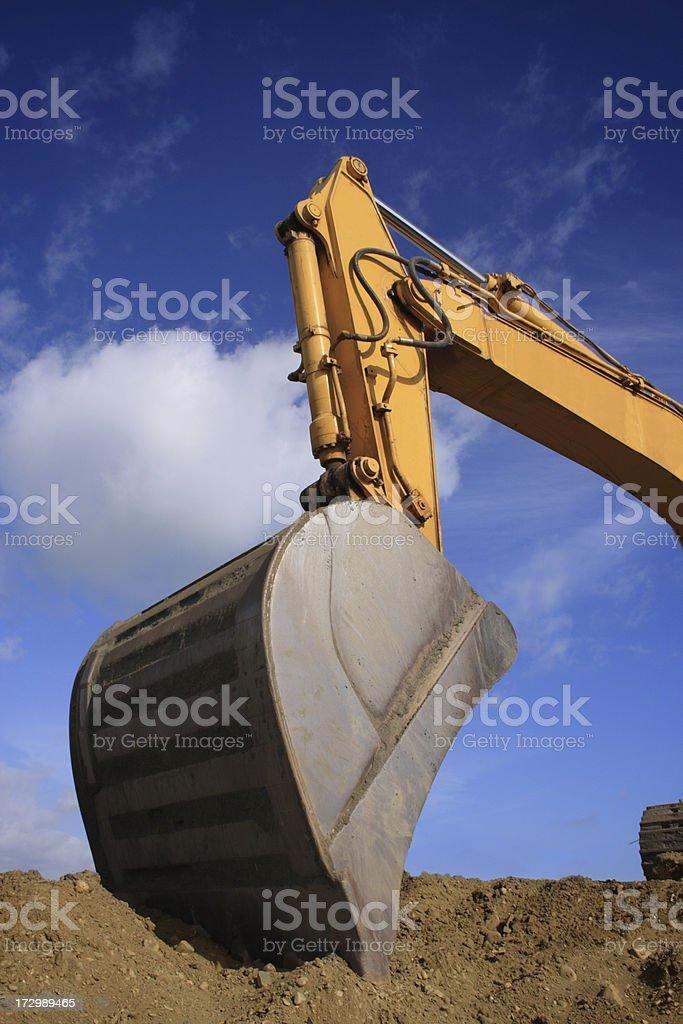 Shovel of a bulldozer royalty-free stock photo