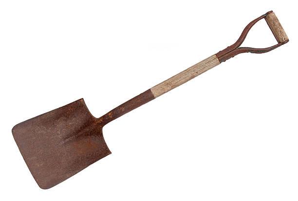 shovel on white. - 鏟 個照片及圖片檔