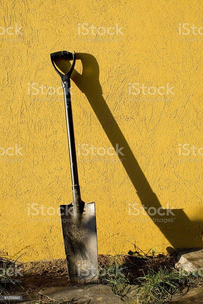 shovel royalty-free stock photo