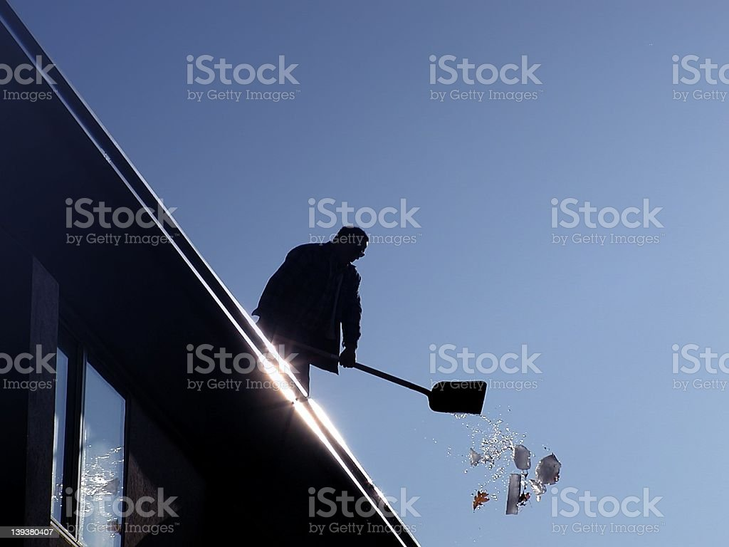 Shovel the Roof royalty-free stock photo