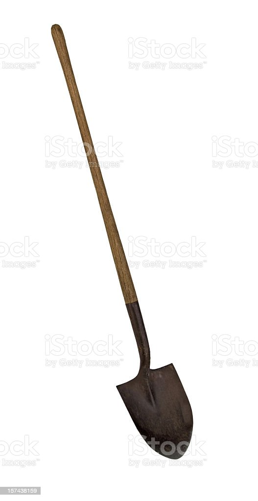 Shovel with Clipping path royalty-free stock photo