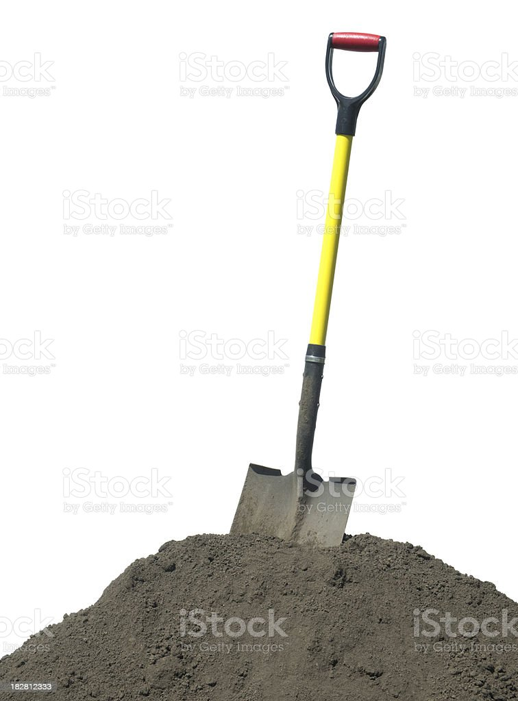 Shovel with soil royalty-free stock photo
