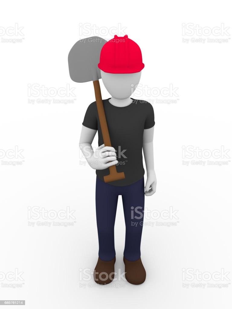 shovel worker foto stock royalty-free