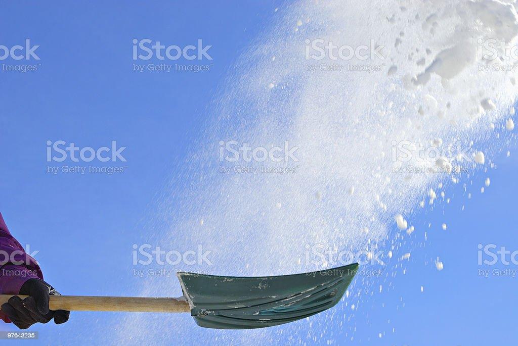 Shoveling snow stock photo
