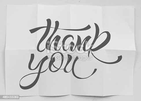 513601840 istock photo show design word THANK YOU on crumpled paper as concept 485433069