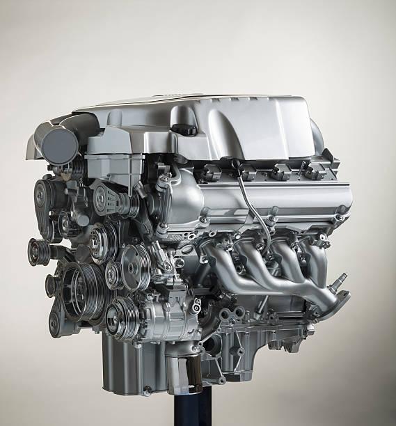 V-8 show engine stok fotoğrafı