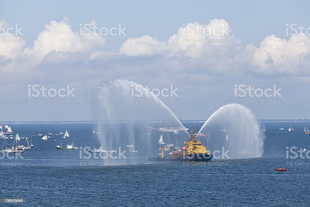 Show Firefighter Vessel. stock photo