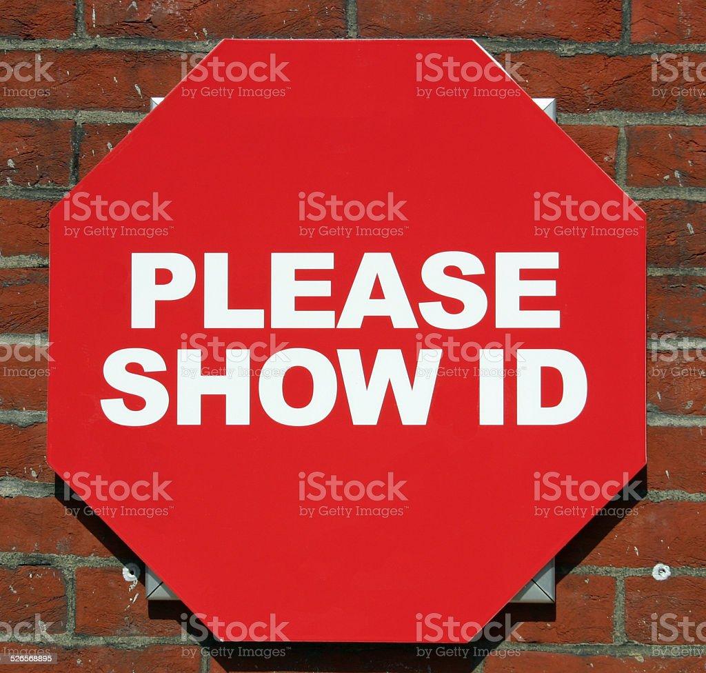 Show ID stock photo