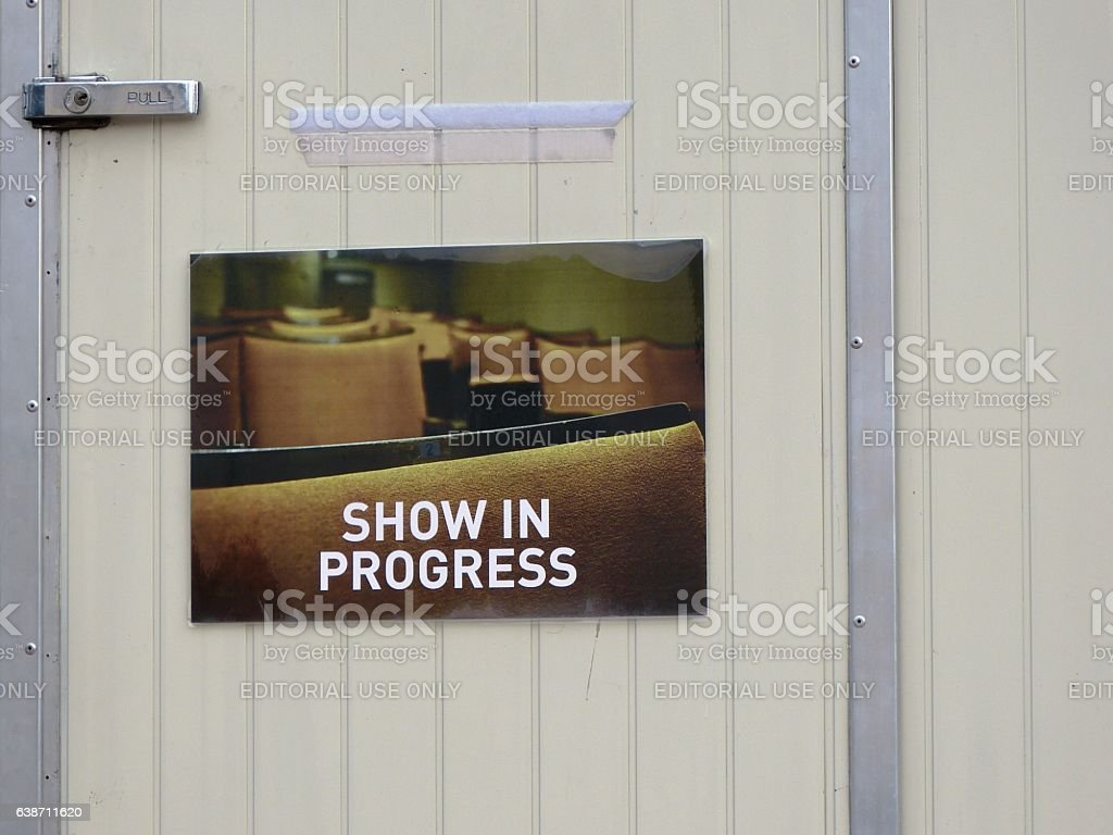 Show in progress stock photo
