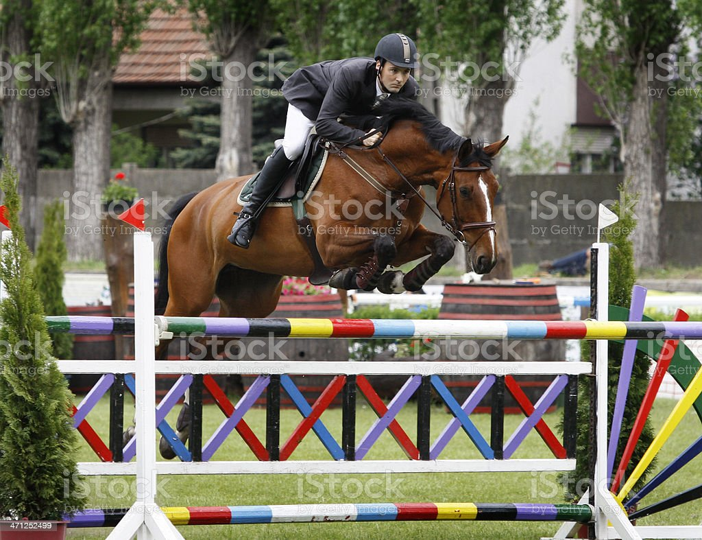 Show jumping royalty-free stock photo