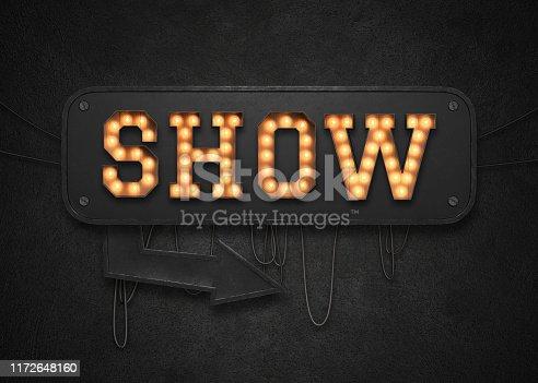 istock Show light sign 1172648160
