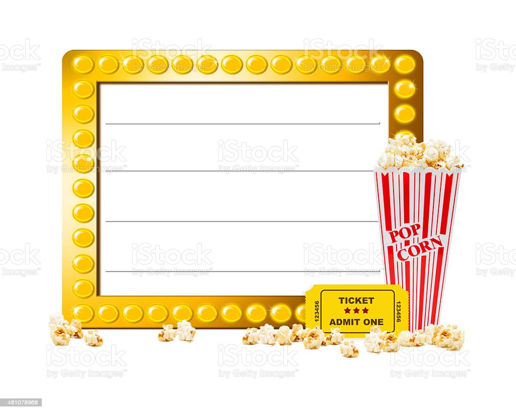 Show Marquee With Popcorn stock photo