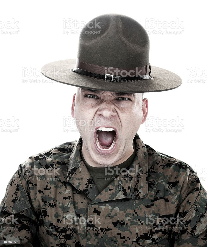 Show Me Your War Face royalty-free stock photo