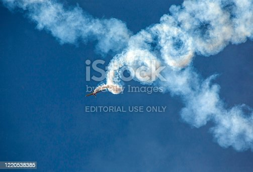 Chisinau, Moldova - September 20, 2014: Show Plane at an Air Show background