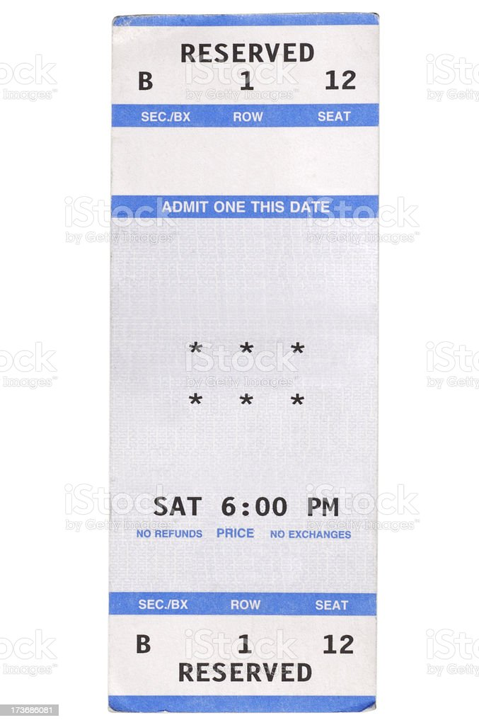 Show Ticket stock photo