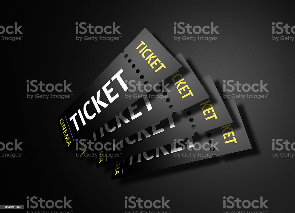 Show Tickets on a Dark Background stock photo