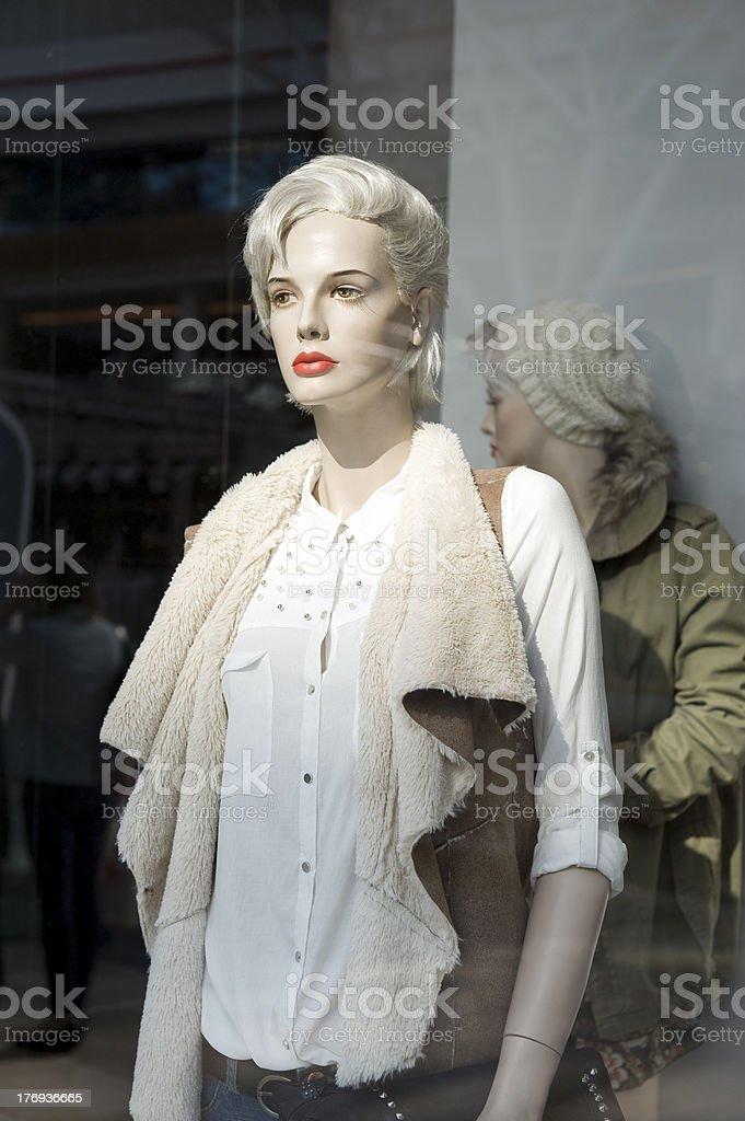 show window women royalty-free stock photo