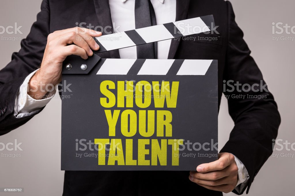 Show Your Talent stock photo